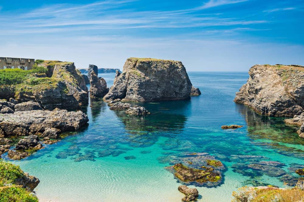 White Sand Beach, Bretagne, France Royalty Free Stock ...  |Beach Bretagne France