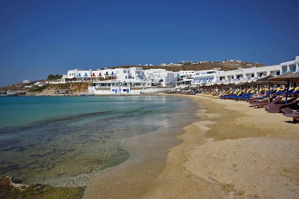 beach weather in platis gialos beach mykonos greece in. Black Bedroom Furniture Sets. Home Design Ideas