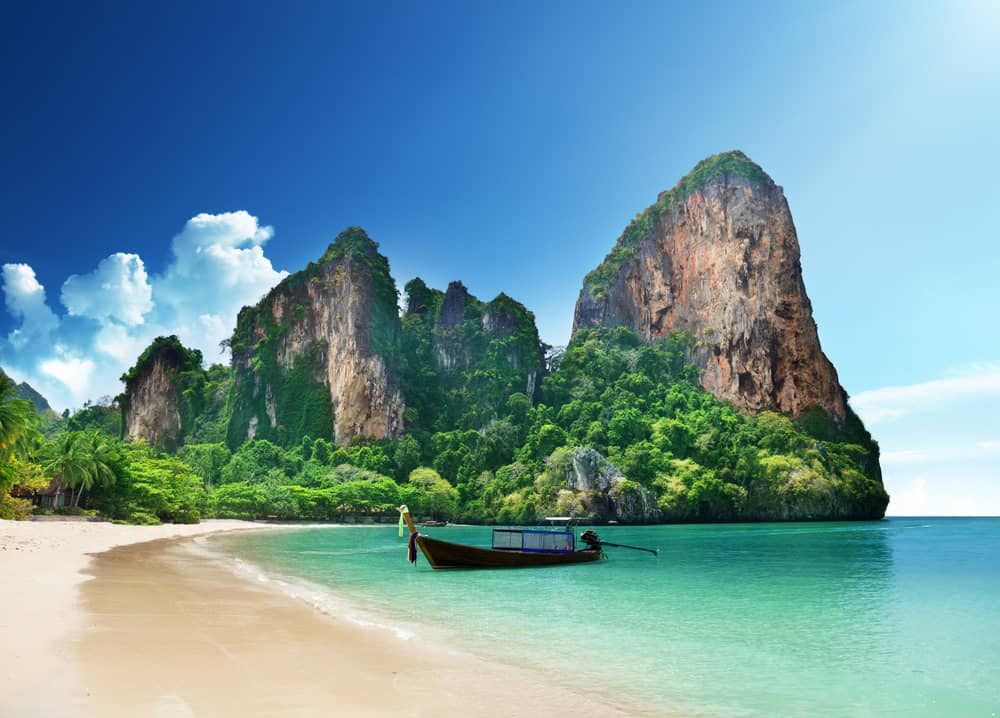 Beach Weather In Railay Beach Krabi Thailand In December