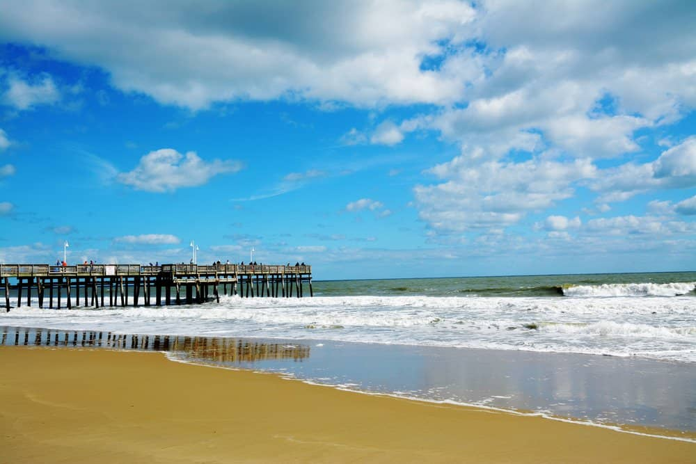 Beach weather in sandbridge beach virginia beach united for Warmest florida beaches in december